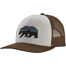 Patagonia Fitz Roy Bear Trucker Hoed, white/bristle brown